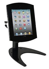 black tablet display stand rotating bracket