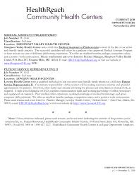 Sample Cover Letter For Grant Application by Cover Letter For Entry Level Healthcare Position Medical Assistant