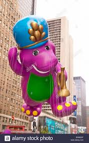 thanksgiving day parade macys barney at the macy u0027s thanksgiving day parade stock photo royalty