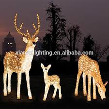 lighted reindeer outdoor decorations uk
