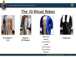 ritual robes alpha kappa psi fraternity ritual team retreat ppt