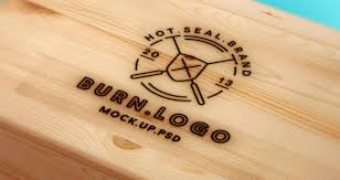 burn on wood wood burning logo mock up template psd mock up templates pixeden