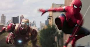spider man homecoming first look at iron man