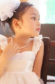 sweet empire waist tea length a line flower dress with lace