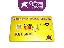 ready prepaid card cellcom israel prepaid nano size sim card new