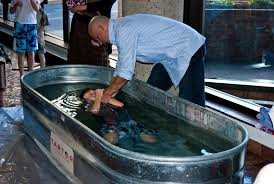 portable baptism 4 baptisms by church plant grace sbc building s lobby