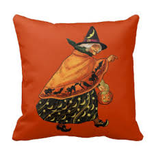 vintage halloween pillows decorative u0026 throw pillows zazzle