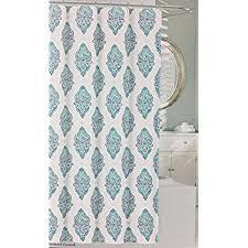 Nicole Miller Bathroom Accessories by Amazon Com Nicole Miller Shower Curtain Leonard Damask Turquoise