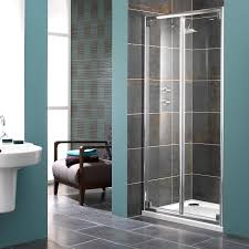 showerlux glide 8mm glass bi fold shower door 1000mm