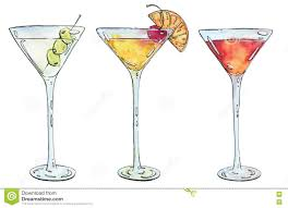 cocktail martini hand drawn watercolor cocktail martini whiskey sour sidecar corp