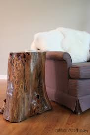 How To Make A Wood Stump End Table by Tree Stump Table Diy