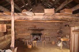 Interior Log Homes File Conner Prairie Log Cabin Interior Jpg Wikimedia Commons