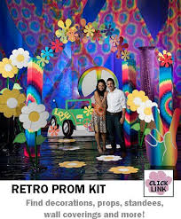 buy retro 1960 s and 1970 s themed decorations for proms