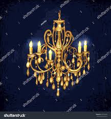 chandelier chandelier golden chandelier hand drawn chandelier dark stock vector