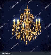 chandelier chandelier golden chandelier hand drawn chandelier dark stock vector