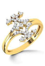 diamond studded american diamond studded ring jvr157