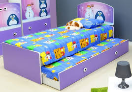 Single Bed Frame With Trundle Children S Beds Lilac Penguin Single Bed Frame And Trundle