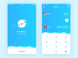 Currency Converter Currency Exchange Concept App Sketch Freebie Free