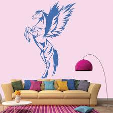 35 unicorn wall decal bambizi magical unicorn wall sticker details about pegasus wall stickers unicorn wall decal art