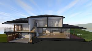 sloping house plans fascinating modern sloping house plans including best photo of