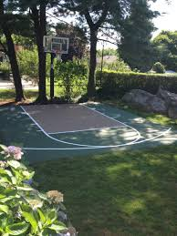 back yard mini basketball court work done by enterprises pictures
