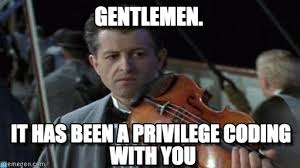 Violin Meme - gentlemen titanic violin meme on memegen