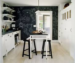 Kitchen Accent Wall Ideas I White Cabinets And Pale Blue Walls I Think A Black