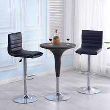 bar stool table set of 2 modern set of 2 bar stools leather adjustable swivel pub chair in
