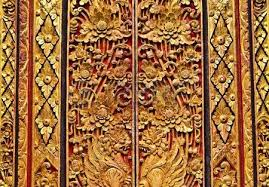 ornate entrance door to temple in bali stock photo picture and