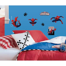 10 in x 18 in spiderman ultimate spiderman 22 piece peel and 10 in x 18 in spiderman ultimate spiderman 22 piece peel and