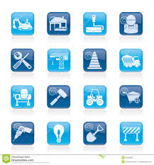 building and construction work tool icons royalty free stock