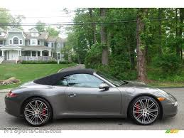 grey porsche 911 2014 porsche 911 carrera s cabriolet in agate grey metallic photo