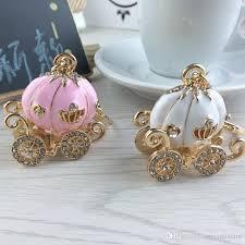Pumpkin Carriage Cinderella Pumpkin Carriage Keychain Key Chain White And Pink