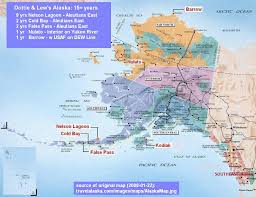 Aleutian Islands Map Our Alaska Map Dottie U0026 Thos Lew Grimes