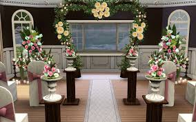 wedding arches sims 4 glamorous sims 3 wedding decorations 39 in wedding decorations for