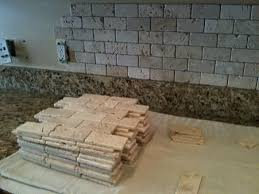 Installing Travertine Tile Tumble Travertine Backsplash 2x4 Tumbled Brick Chiaro Travertine