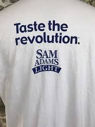 where to buy sam adams light samuel adams light beer hanes t shirt size xl sam brewer man cave ebay
