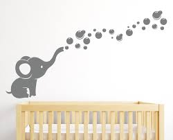 amazon com elephant bubbles wall decal nursery decor baby baby