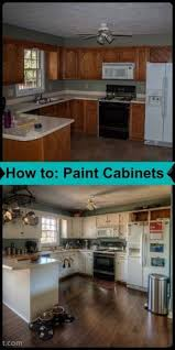 Best Way To Paint Kitchen Cabinets Upgrade Cabinet Makeover With Diy Crown Moulding And Chalky Finish