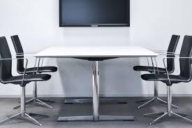 White Meeting Table Cast Sleek Boardroom Table