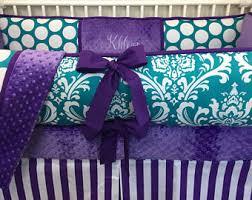 Purple And Teal Crib Bedding Purple Crib Bedding Etsy