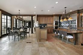 stunning kitchens with tile floors of the home