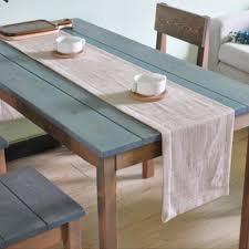 dining room table runner natural linen table runner table cloth table linen