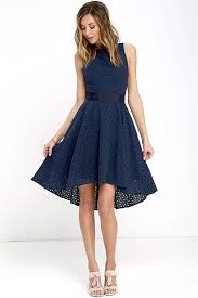 dresses for a summer wedding navy blue lace hi low dress summer wedding guest dresses