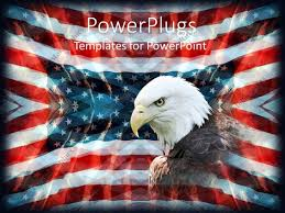 powerpoint template patriotic background with american flag bald