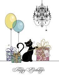 birthday card printable cat birthday card cat birthday