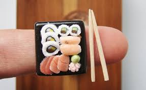 cuisine miniature miniature food sushi ceramic plates by mostlyart other c flickr