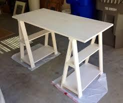 Ikea Sawhorse Desk Furniture Sawhorse Desk For Furniture In Your Home Workspace