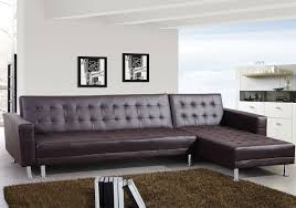 canapé d angle simili cuir convertible marron canapés d angle salon salle à manger