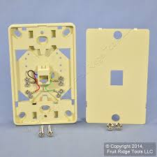 cortelco wall mount phone eagle ivory modular wall mount phone jack 630a telephone outlet